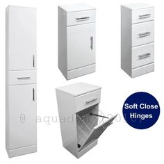 #Classic #bathroom cloakroom vanity furniture storage units high #gloss white,  View more on the LINK: http://www.zeppy.io/product/gb/2/252482840343/