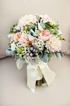 bridal bouquet or bridesmaids  love the textures
