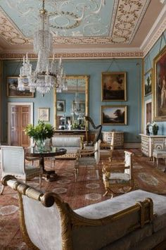 Country home drawing room