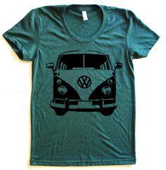 VW Micro Bus Graphic Print Tee TriBlend Short by StarHeartPinkShop, $20.00 http://t-shirt71.blogspot.com/