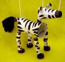 Zebra Puppet on a String