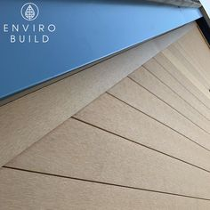 This smooth angled roof boarder creates a neat aesthetic finish.  📷: Total Construction Builders Merchants, Sustainable Building Materials, Floors And More, Composite Decking, Cladding, Sustainability, Fence, Composition, Environment