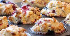 Muffins met witte chocolade