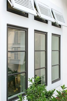 Browse thousands photos of Casement Windows that will inspire you. Find ideas and inspiration for Casement Windows to add to your own home. - June 05 2019 at French Casement Windows, Pella Windows, Porch Windows, Wood Windows, Black Vinyl Windows, Black Windows Exterior, Double Hung Windows, Farmhouse Windows, Ideas