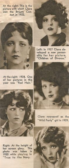 Clara Bow. She had a very interesting life!