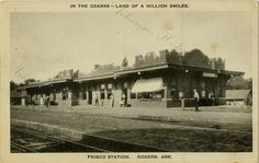 Frisco train depot in Rogers, unknown date.
