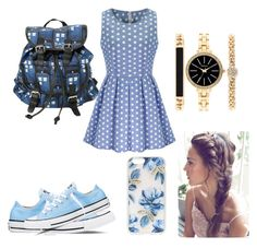"""""""Blue Love #3"""" by lildcon on Polyvore featuring Converse, Style & Co. and Sonix"""