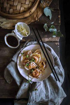 Kürbis-Ingwer-Knödel - ein einfaches Rezept, das im Laden gekauften Wan-Tan-Wrapper verwendet |  heneedsfood.com