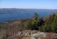 Lake George from Pilot Knob in the Adirondacks.
