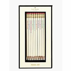 for writing thank you cards, shopping lists and well-composed love notes. idiom pencils by kate spade new york. (december 2013)