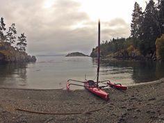 "Iron Mine Bay in East Sooke Park via Hobie Adventure Island ""Sail-kayak"""