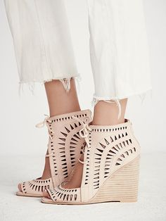 Jeffrey Campbell Serena Wedge at Free People Clothing Boutique