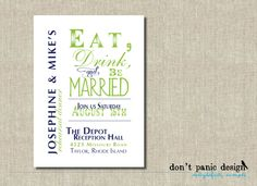 Printable Rehearsal Dinner summer party BBQ by DontPanicDesign
