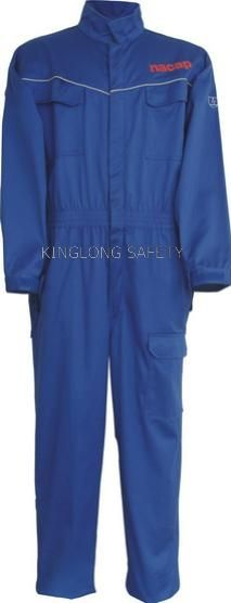 blue coverall elastic waist without buckle