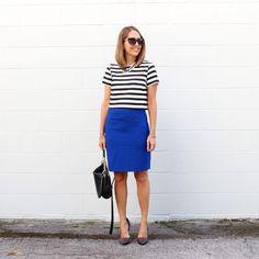 Pencil skirt, stripes