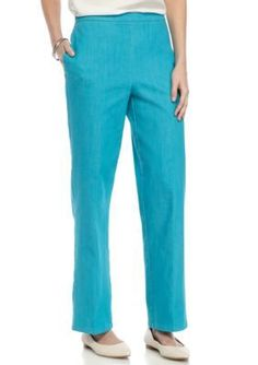 Alfred Dunner Turquoise Scenic Route Proportion Short Pants