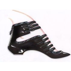 Casadei's Sketch  #Softymetal multistraps ballerina in black glossy patent leather with hidden wedge and zip fastening at back