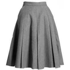 J.W. Anderson Women's Box Pleat Skirt ❤ liked on Polyvore