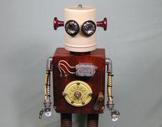 INTERMATIC  Found Object  Robot Sculpture by NutzenBoltsWorks, $169.00