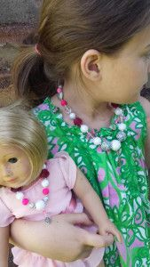 Have you seen these adorable matching girl and doll necklaces from Etsy shop Saongjai? Only one more day to enter to win a set, plus buy one get one 50% off everything in the shop!