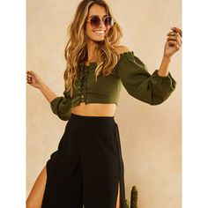 Fortunate One |  Green With Envy Top Khaki