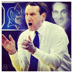 Coach K LEGEND on and off the court! Best coach hands down! Duke Basketball - amh