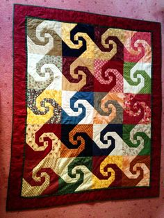 snail trail quilt - 2006wonder if this would be possible for a layer cake?