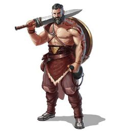 ArtStation - D&D Characters, Frank Wade male warrior / barbarian / fighter with round shield and broadsword Fantasy Character Design, Character Design Inspiration, Character Concept, Character Art, Fantasy Male, Fantasy Warrior, Fantasy Rpg, Dungeons And Dragons Characters, D D Characters
