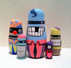 Monster nesting dolls