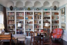 White Custom Bookcases. - eclectic - living room - san francisco - Keith Bruns Woodworking