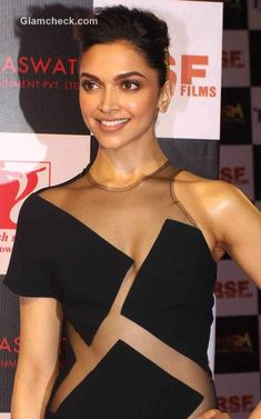 Deepika Padukone sports cut out gown