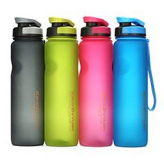 Sports Water Bottle , DRILLPRO 35oz/1L Drinking Bottle - BPA Free - Flip Top Leak Proof - One Click Open for Outdoor & Gym Sport #Sports #Water #Bottle #DRILLPRO #oz/L #Drinking #Free #Flip #Leak #Proof #Click #Open #Outdoor #Sport