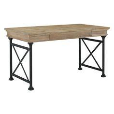 Signature Design by Ashley Shennifin Light Brown Home Office Large Leg Desk