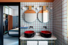 Patricia Urquiola gets modern with Ettore Sottsass' 1980s rigor in the design of her latest project, The Room Mate Hotel Giulia in Milan.
