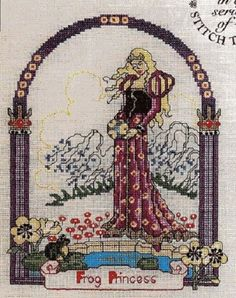 point de croix princesse - cross stitch frog princess part 1