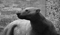 Chicken Wire Sculpture | Chicken wire polar bear sculpture | Flickr - Photo Sharing!