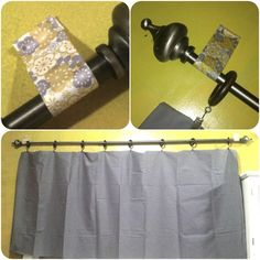 Three Piece Set Of Kwik Hang Curtain Rod Brackets No