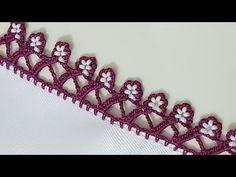 Tek sıra tığ oyalarında yeni modelimiz kolay boncuk oyası yapımı. Sıra sıra dizilen çiçek motiflerine benzetilen boncuklu oya modeli. Crochet Videos, Beaded Embroidery, Jewelery, Beaded Necklace, Beads, Diy, Knitting, Handmade, Youtube