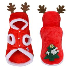 Christmas Dog Clothes Small Dogs Santa Costume for Pug Chihuahua Yorkshire Pet Cat Clothing Jacket Coat Pets Costume - Petnr - Funny animals Dog Christmas Clothes, Christmas Jacket, Dog Christmas Outfits, Dog Christmas Costumes, Christmas Suit, Winter Clothes, Reindeer Costume, Santa Costume, Tree Costume