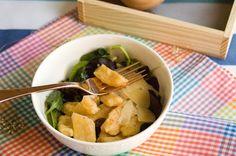 Ñoquis con patata y calabaza.