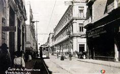Fotos de Guadalajara, Jalisco, México: CALLE DE MAESTRANZA circa 1900-1930
