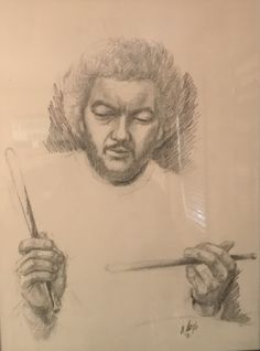 Steve Gadd drawing done for me by friend Charcoal Sketch, Charcoal Drawing, Steve Gadd, Drummers, David, Drawings, Life, Illustrations, Sketches