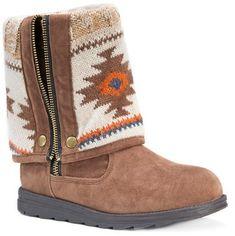 Target.com - Muk Luks Women's MUK LUKS®️️ Demi Aztec Print Fold Over Boots - Tan #boots #affiliate