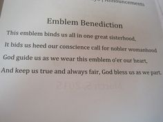 Emblem Benediction-BPW/SBW
