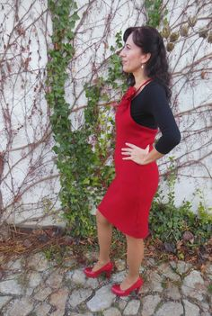 Upcycled red sweater dress https://www.facebook.com/media/set/?set=a.723524511066240.1073741845.237434079675288&type=1&pnref=story