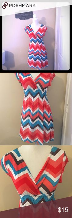 Chevron Style Dress Lightweight chevron design dress. Casual dress perfect for day to day attire and/or beach, park, lunch. Size Small. Brand new without tags. 5 Love Dresses Midi