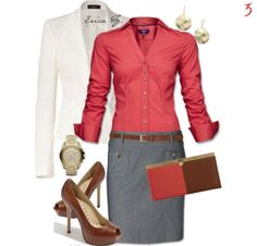 Red Work Outfits In Classic Way Just For Women