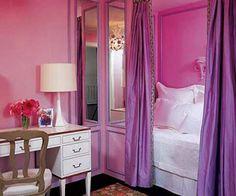 pink purple fancy girl room