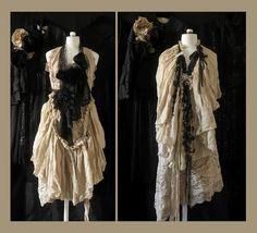 Shabby, antique dresses.