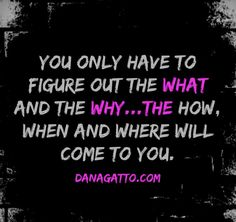 Dana Gatto What and why is your work...how will come to you once you decide the what and why clearly